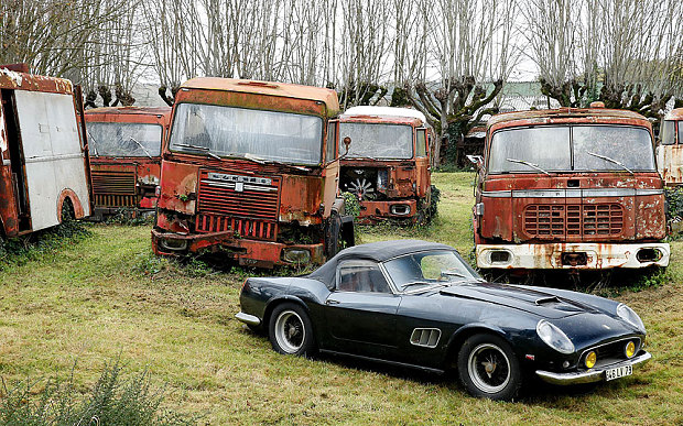 The 1961 barn find Ferrari 250 Photo: SWNS