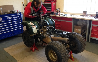 Quad bike repair and restoration at KAD-Classics
